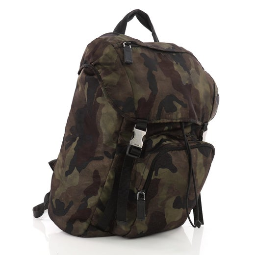d1390ce13553 Prada Camouflage Backpack Tessuto Large at 1stdibs