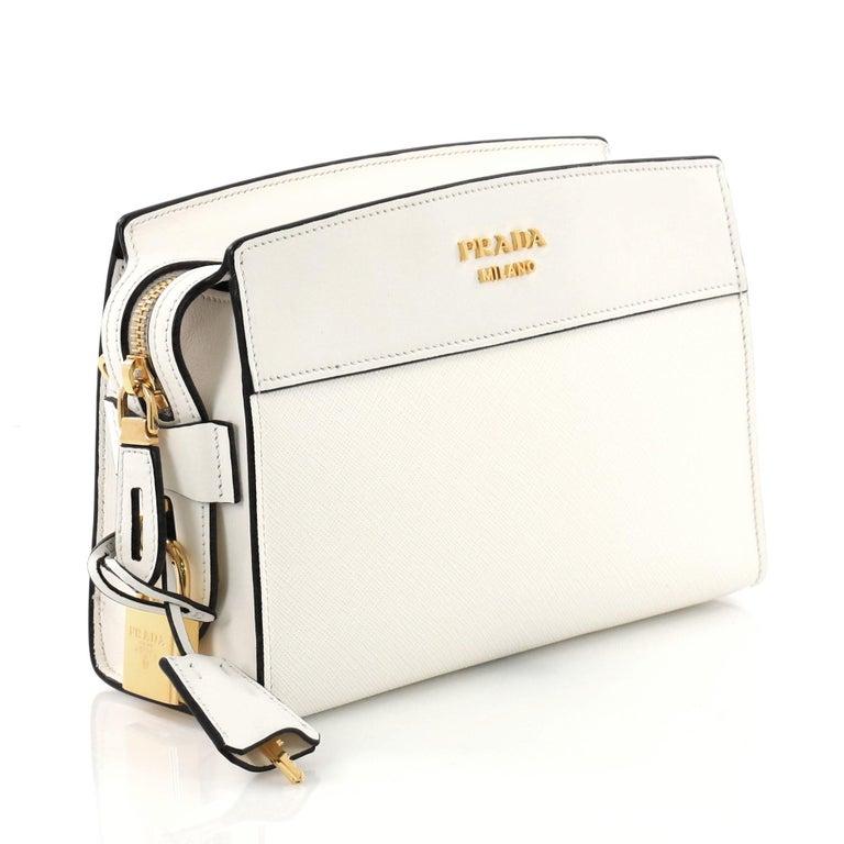 56f89e0764 Beige Prada Esplanade Crossbody Bag Saffiano Leather Small For Sale