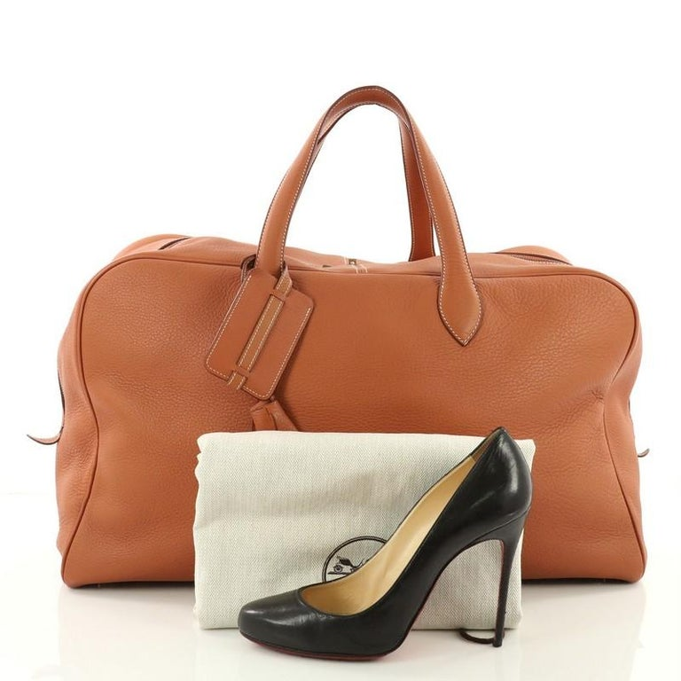 This Authentic Hermes Victoria Ii Travel Bag Clemence 50 Is Perfect For Luxurious Traveling Created