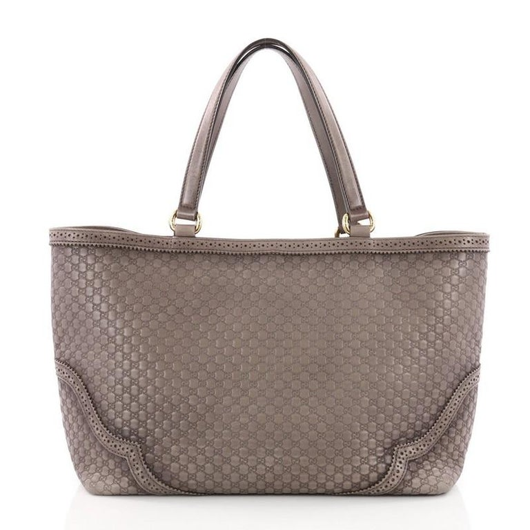 e49986d47de Gucci Duilio Brogue Tote Microguccissima Leather Large In Good Condition  For Sale In New York