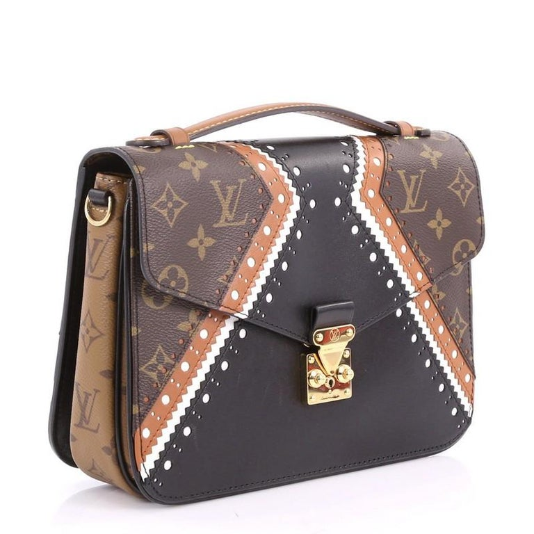 4643b5dfc397 Black Louis Vuitton Pochette Metis Limited Edition Brogue Reverse Monogram  Canvas For Sale