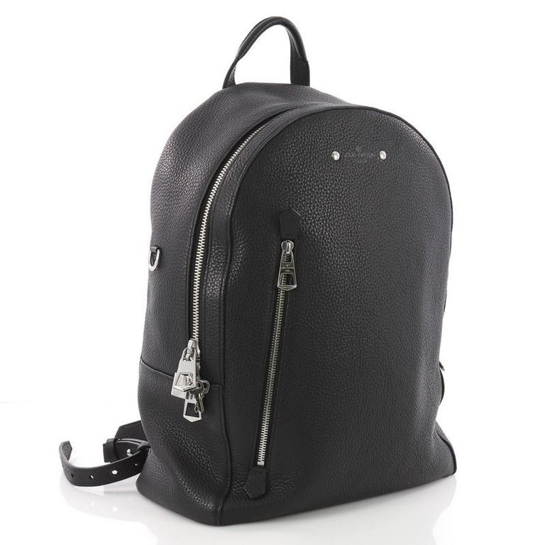 808469ba9a11 Black Louis Vuitton Armand Backpack Taurillon Leather For Sale
