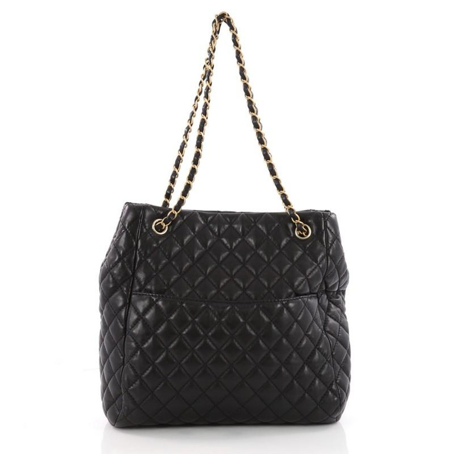 8df3d950e737 Chanel Fluffy CC Tote Quilted Lambskin Medium at 1stdibs