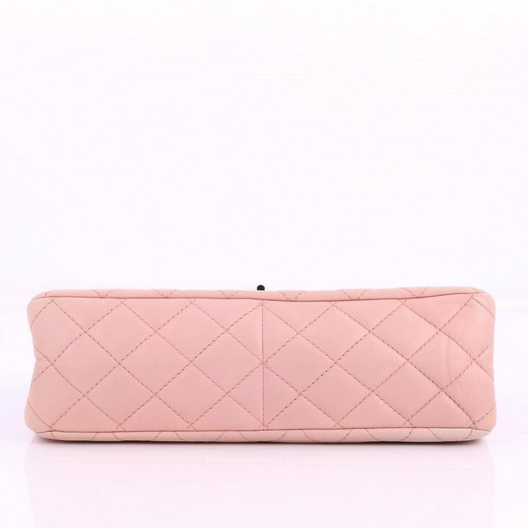 Women's or Men's Chanel Reissue 2.55 Handbag Quilted Ombre Lambskin 227 For Sale