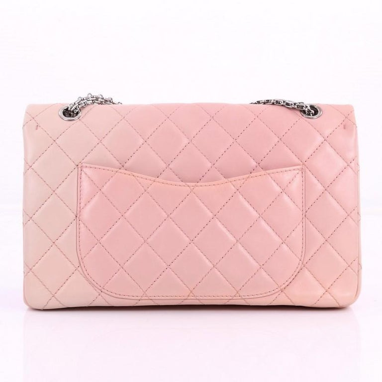 Chanel Reissue 2.55 Handbag Quilted Ombre Lambskin 227 In Good Condition For Sale In New York, NY