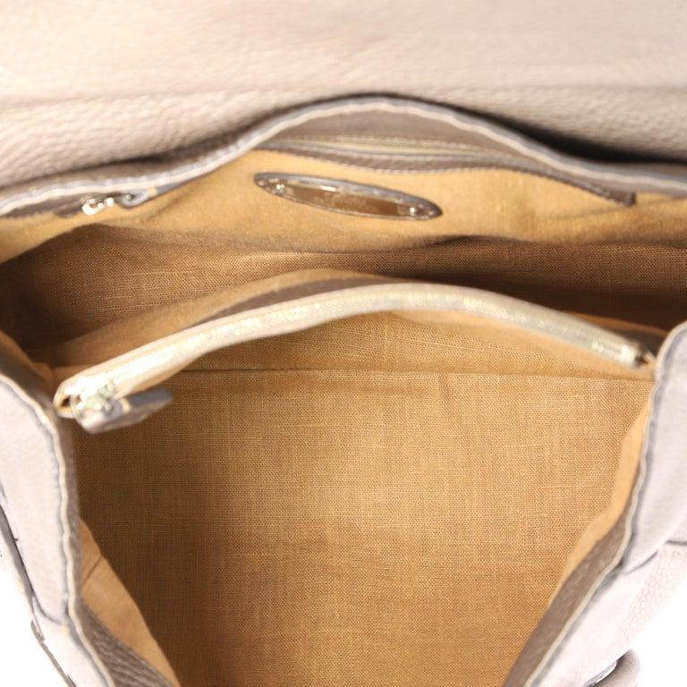 Fendi Selleria Linda Satchel Pebbled Leather Large For Sale 3