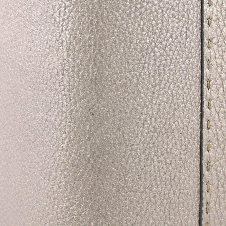 Fendi Selleria Linda Satchel Pebbled Leather Large For Sale 1