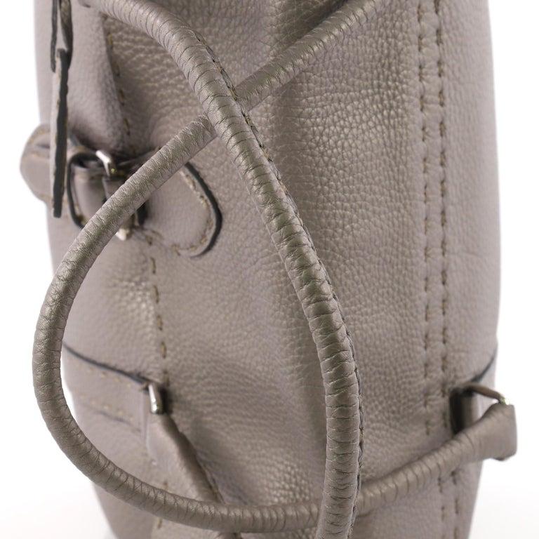 Fendi Selleria Linda Satchel Pebbled Leather Large For Sale 2
