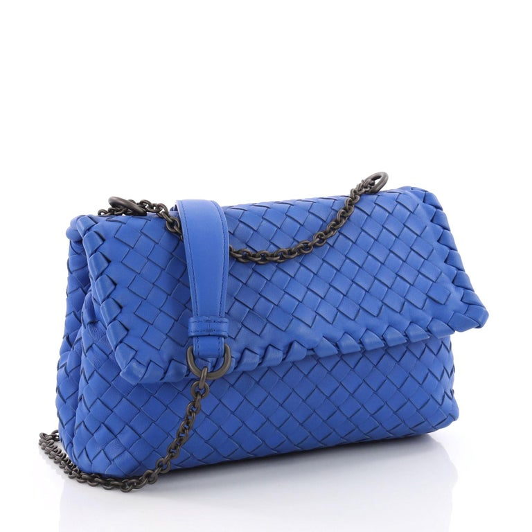 30e9c4cbb9 Blue Bottega Veneta Olimpia Crossbody Bag Intrecciato Nappa Baby For Sale