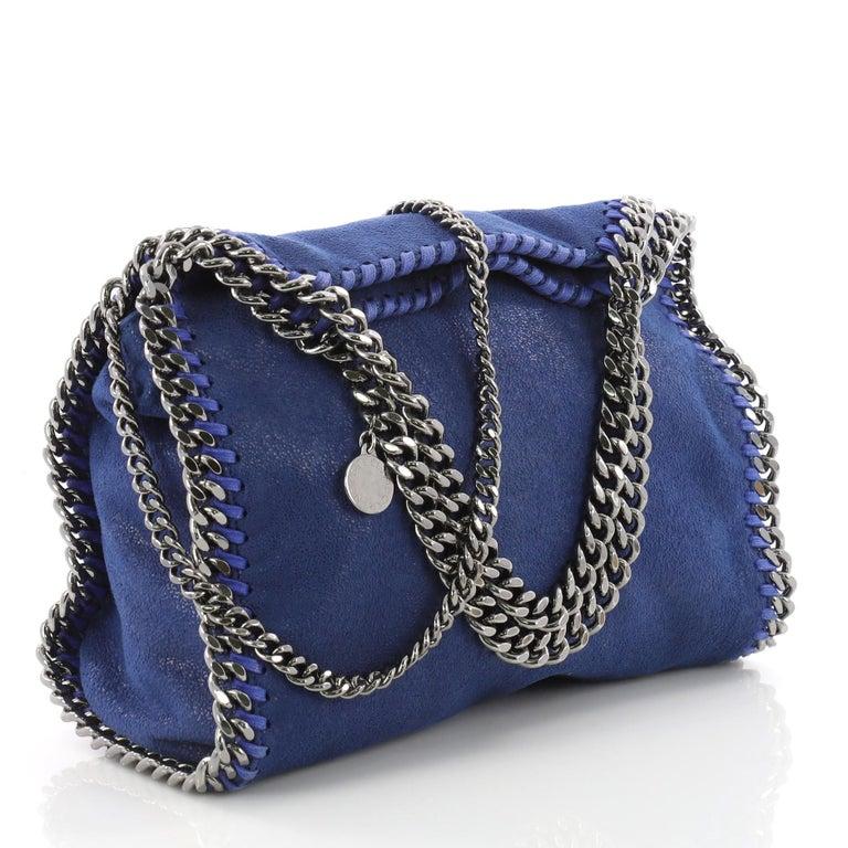822c75789d22 Purple Stella McCartney Falabella Fold Over Crossbody Bag Shaggy Deer Mini  For Sale