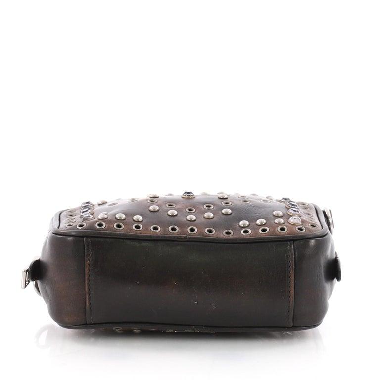 ce15448ea9be86 Women's or Men's Prada Zip Crossbody Bag Studded Vitello Vintage Mini For  Sale