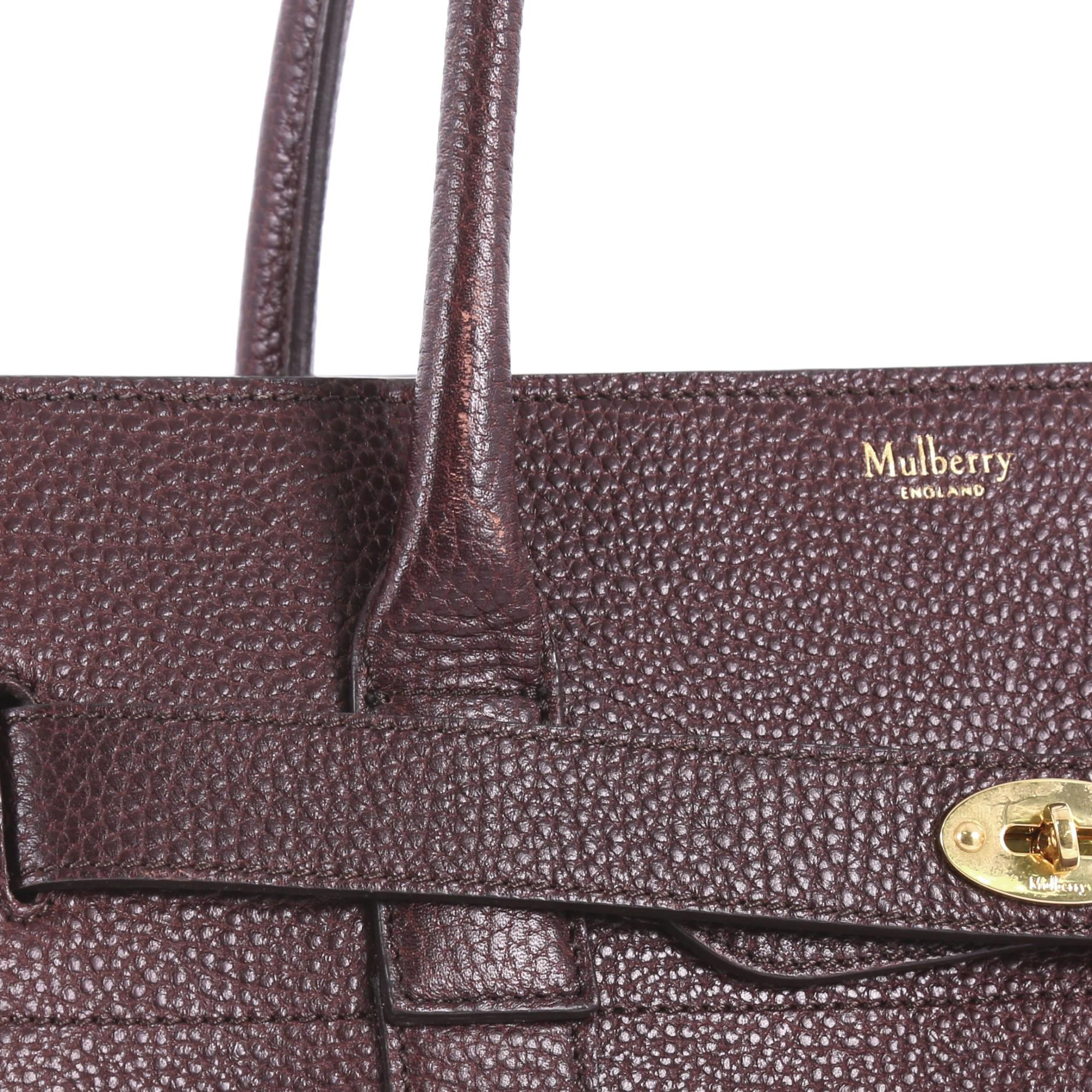 657841f94d Mulberry Bayswater Zipped Tote Leather Medium at 1stdibs