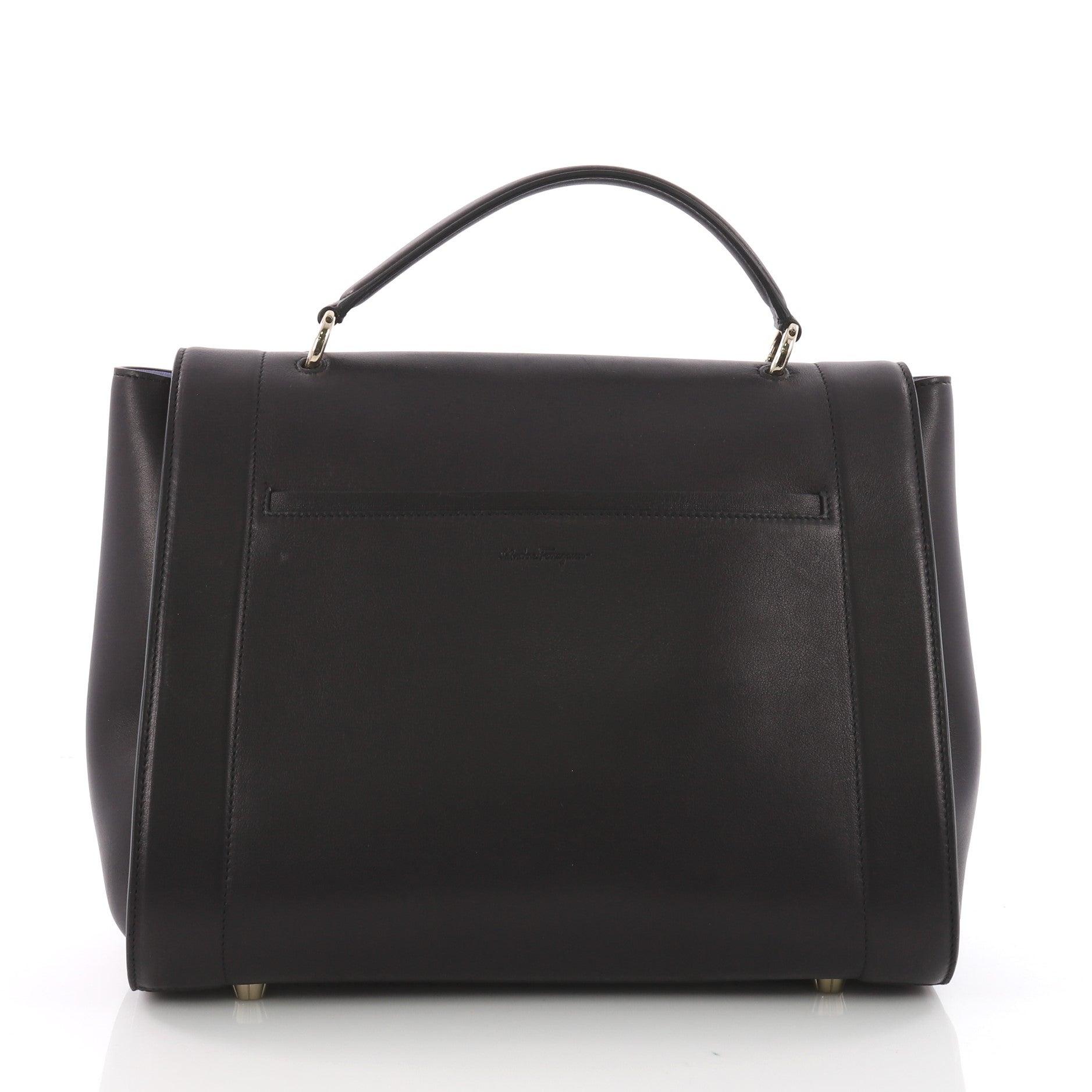 33ad7a675594 Salvatore Ferragamo Sofia Rainbow Saddle Bag Leather Medium at 1stdibs