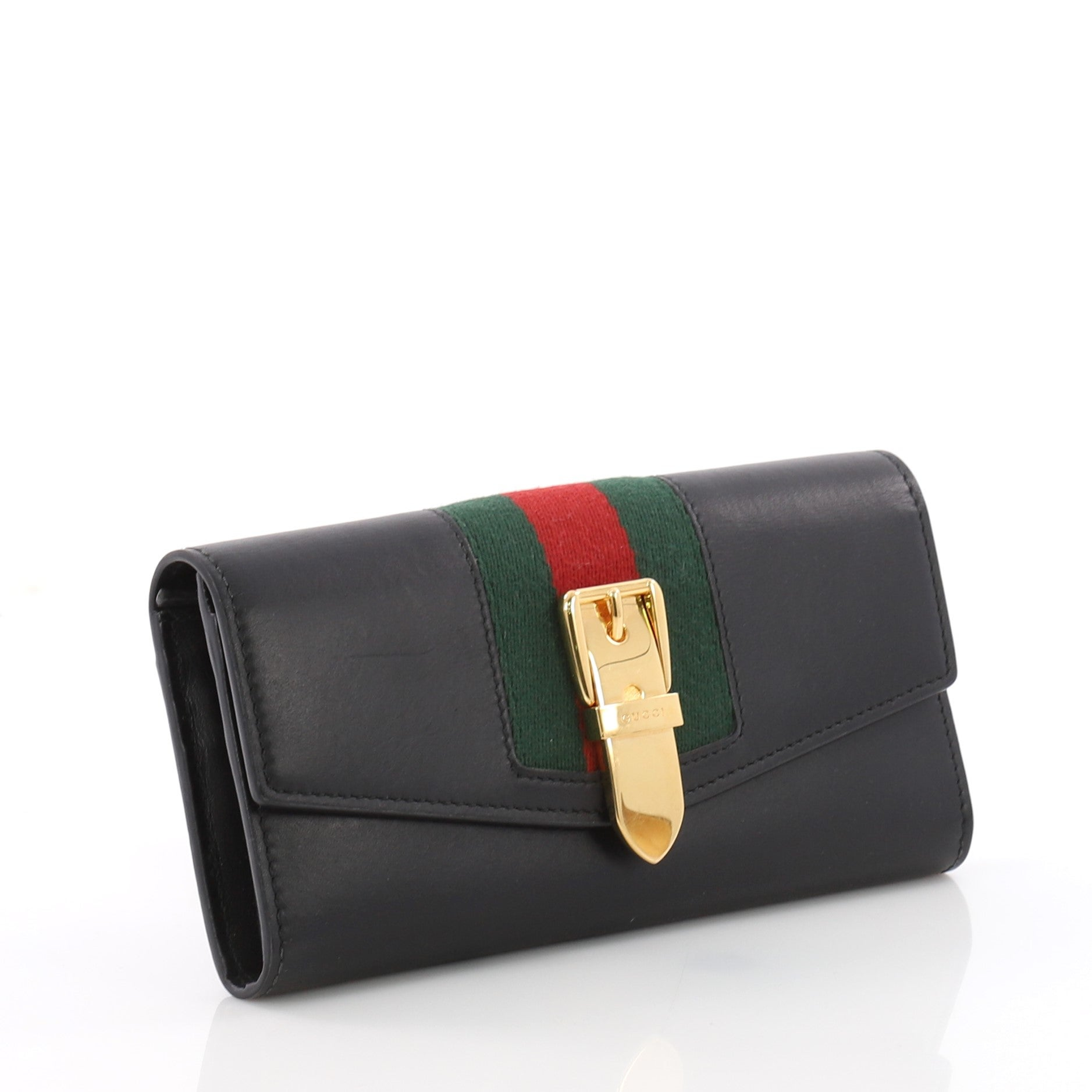 a9221e7ed538 Gucci Sylvie Continental Wallet Leather at 1stdibs