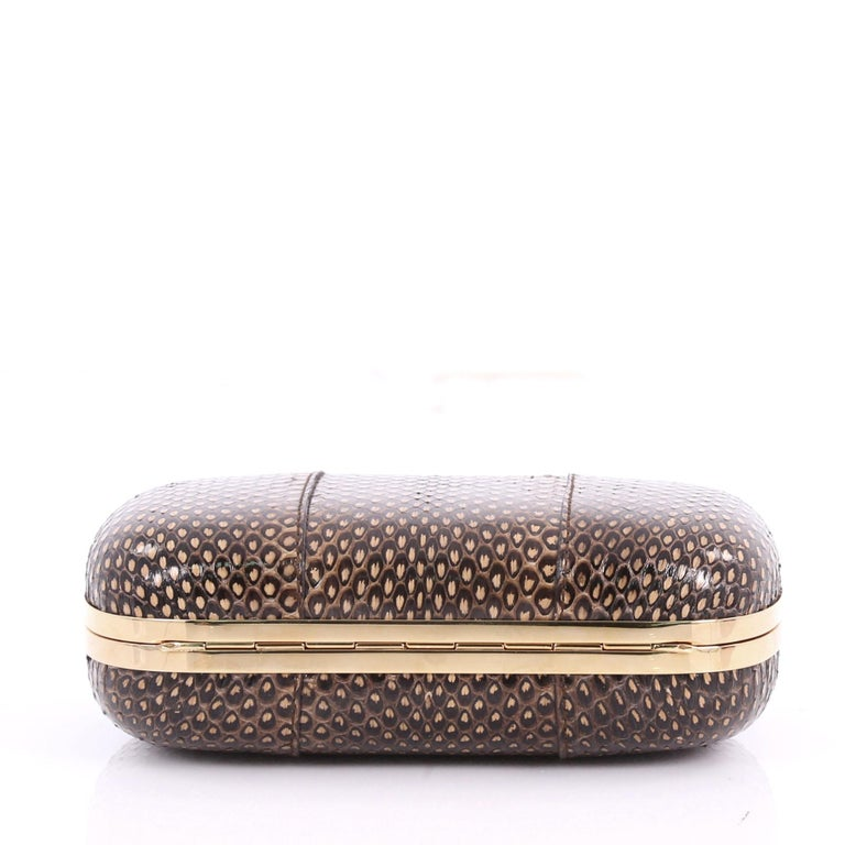 Women's or Men's Alexander McQueen Skull Box Clutch Python Small For Sale