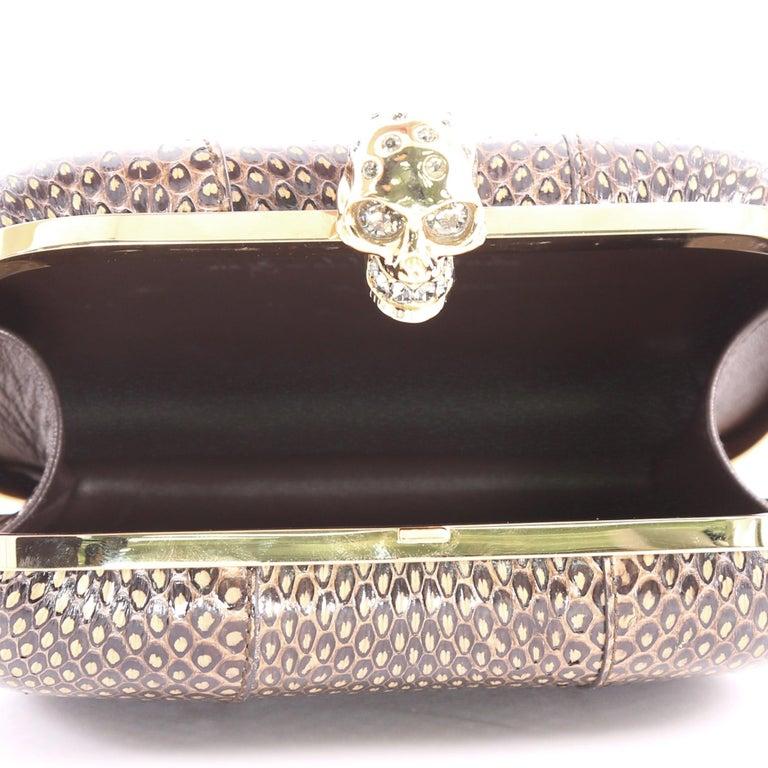 Alexander McQueen Skull Box Clutch Python Small For Sale 1