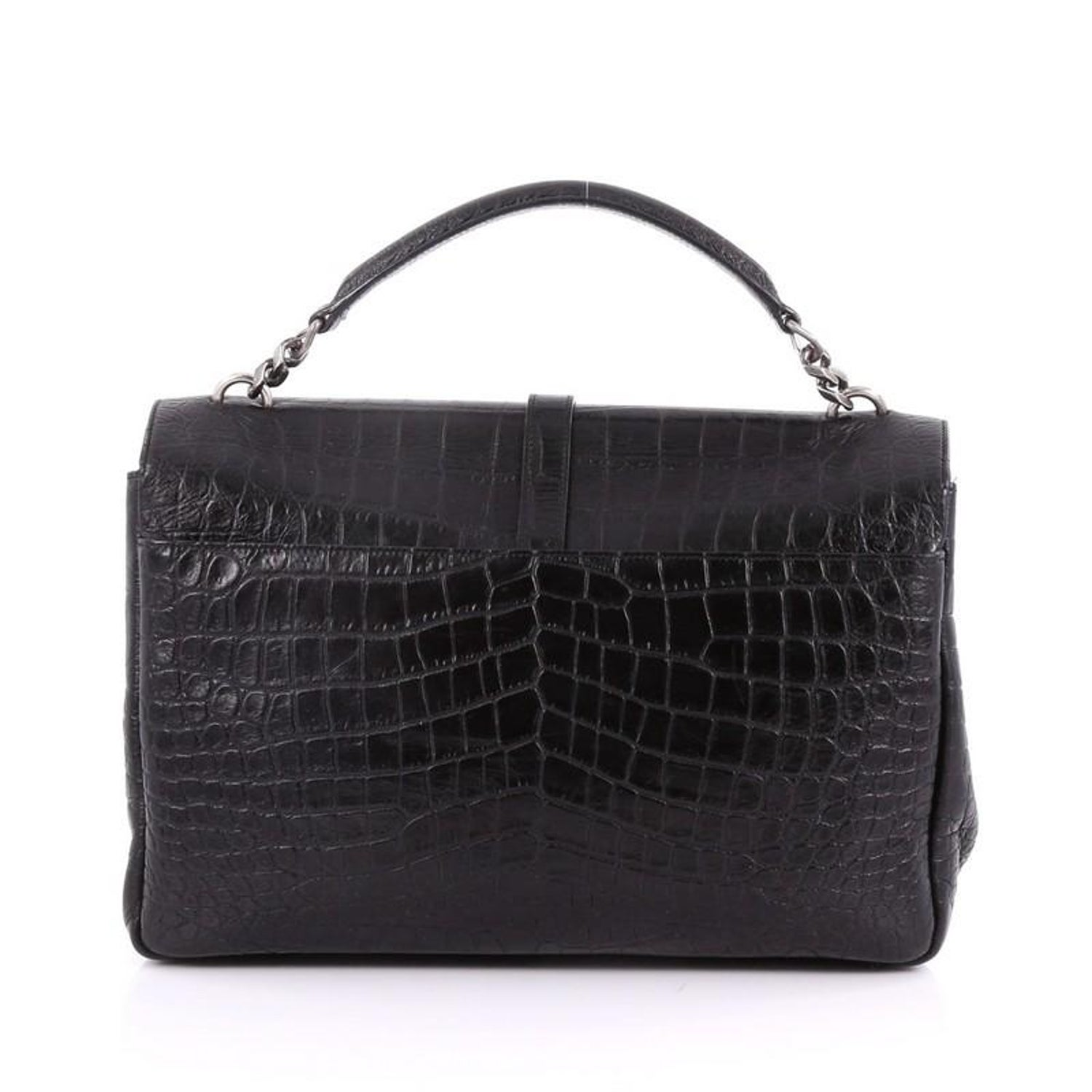 c77b72382f Saint Laurent Classic Monogram College Bag Crocodile Embossed Leather Large  at 1stdibs