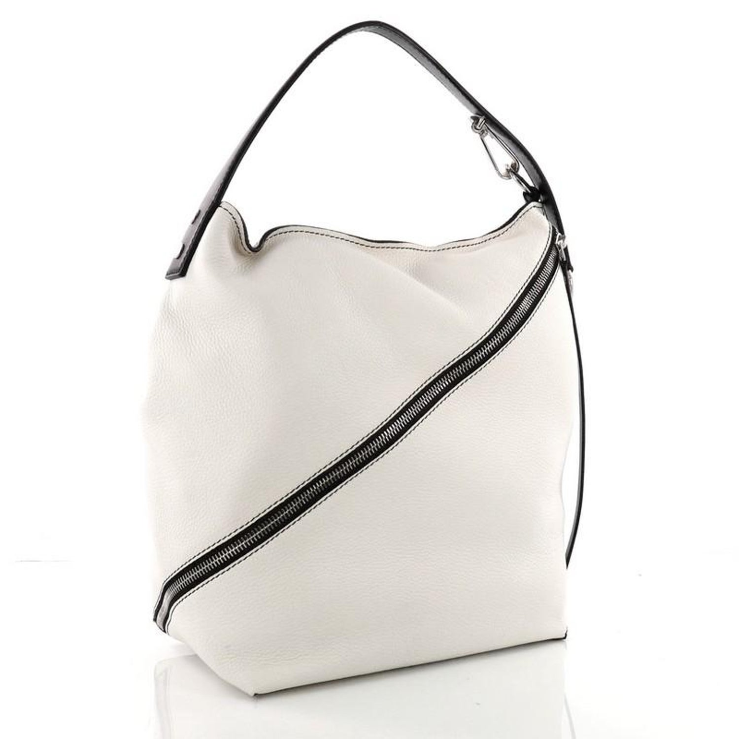 ffb04316328f Proenza Schouler Zip Hobo Pebbled Leather Medium For Sale at 1stdibs