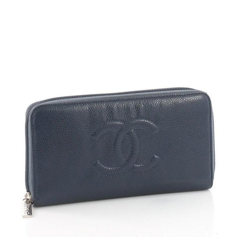 475fe42bc0fb Black Chanel Timeless CC Zipped Wallet Caviar Long For Sale