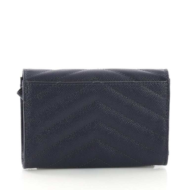 Saint Laurent Classic Monogram Flap Wallet Matelasse