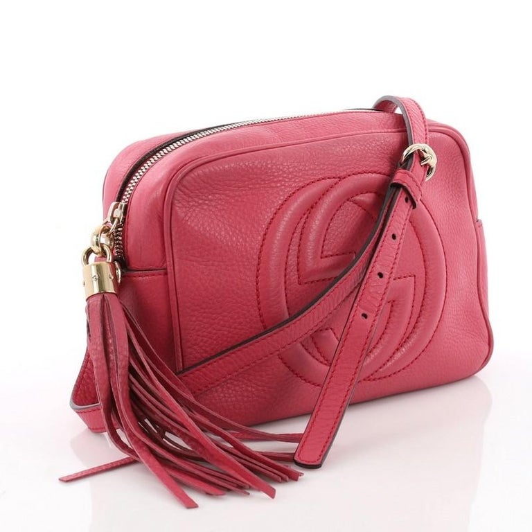 f97325883c32a0 Pink Gucci Soho Disco Crossbody Bag Leather Small For Sale