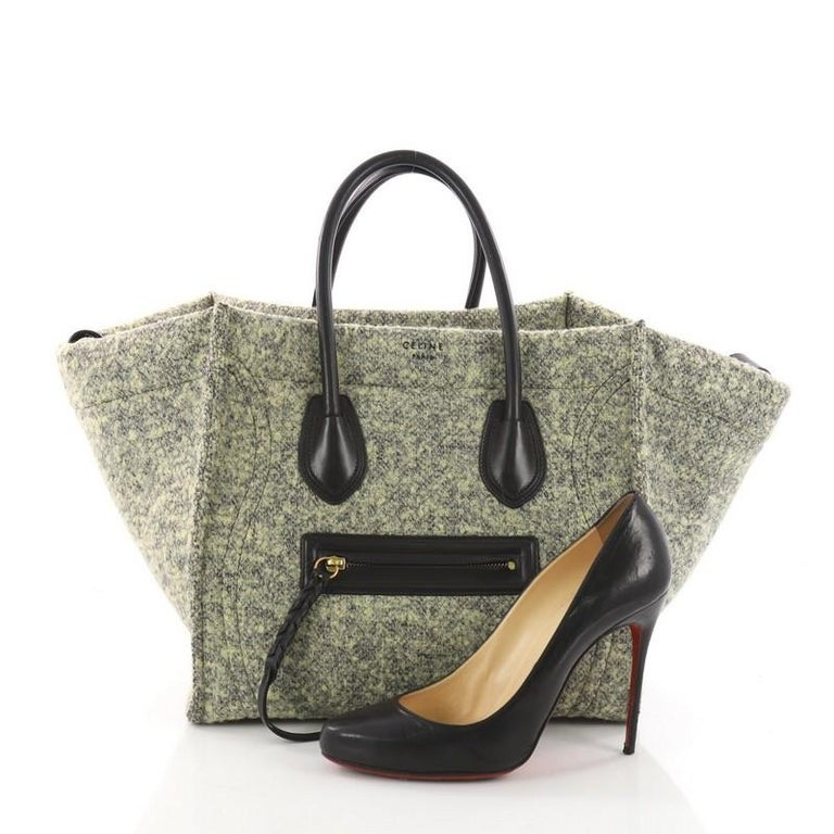 Celine Phantom Handbag Wool Medium at 1stdibs 23d0ae75d217c