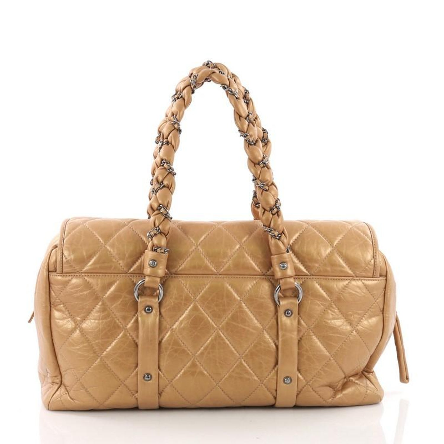 67945418956d Chanel Lady Braid Flap Tote Quilted Distressed Lambskin Large at 1stdibs