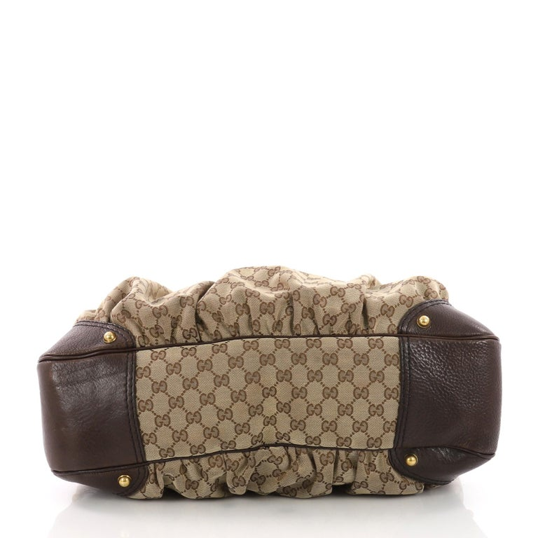 6f7283ab0545 Women's or Men's Gucci Horsebit Hobo GG Canvas Large For Sale