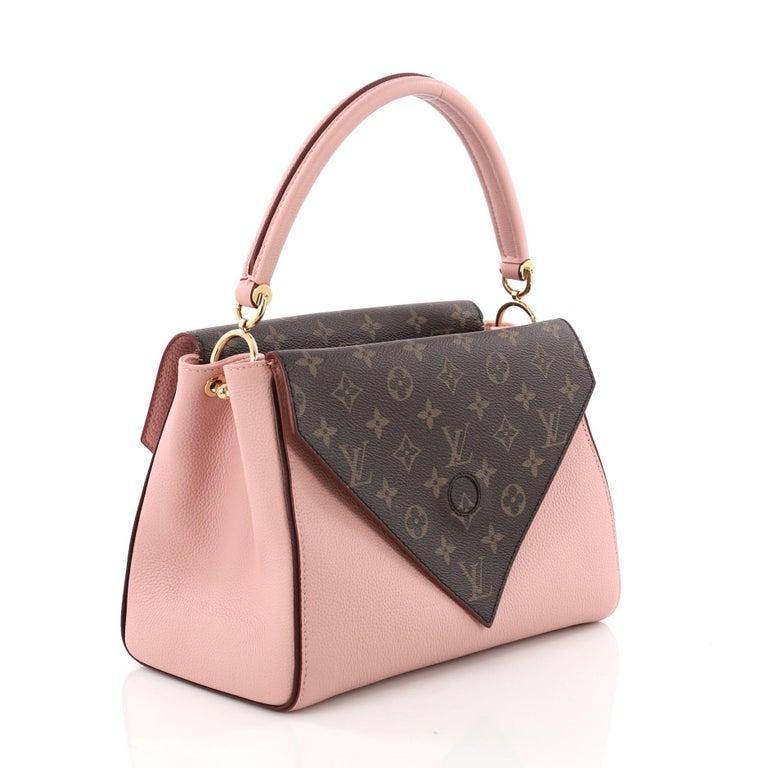 af38b630676 Beige Louis Vuitton Double V Handbag Calfskin and Monogram Canvas For Sale