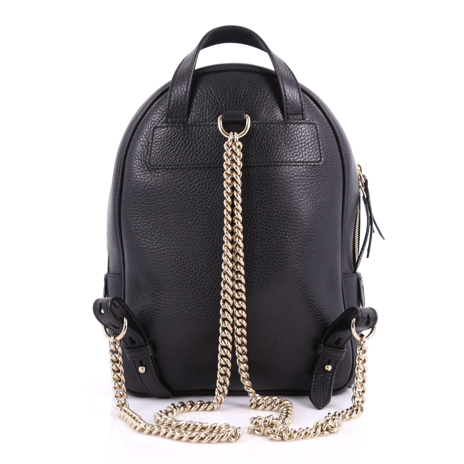 f5ce3a521 Gucci Soho Chain Backpack Leather, at 1stdibs