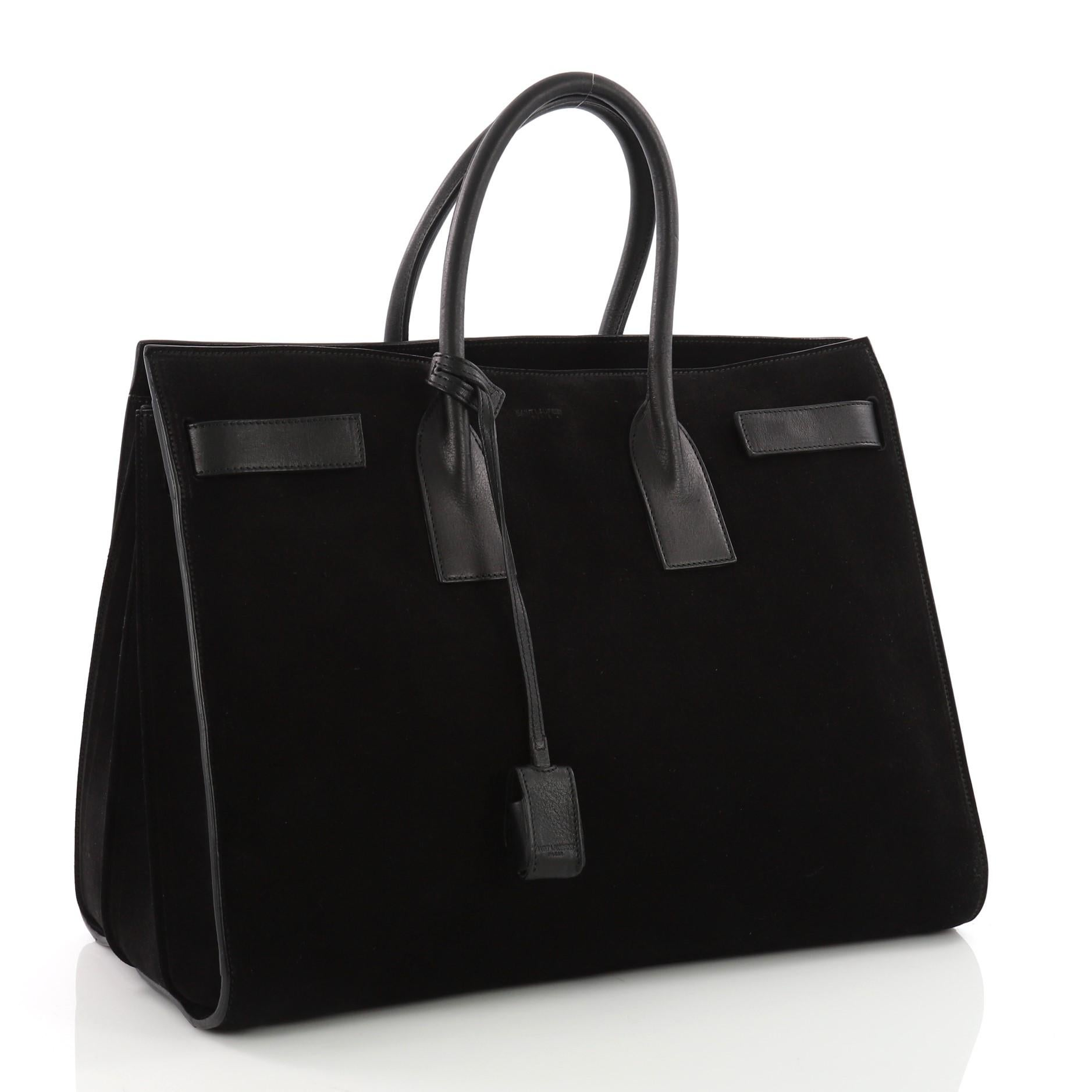 Sac Jour Large Handbag De Saint Laurent Suede 80NnvwmO