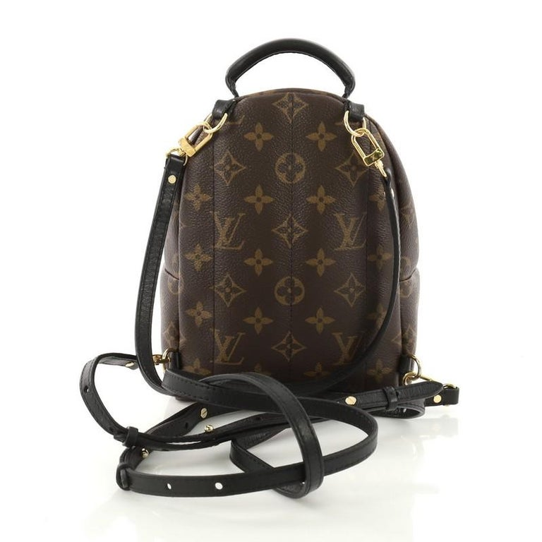 4788914da76bd Louis Vuitton Palm Springs Backpack Monogram Canvas Mini In Good Condition  For Sale In New York