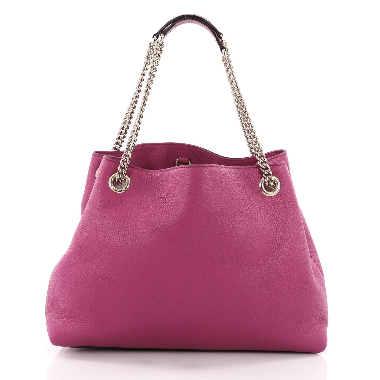 a38c445442af Gucci Soho Chain Strap Shoulder Bag Leather Medium at 1stdibs
