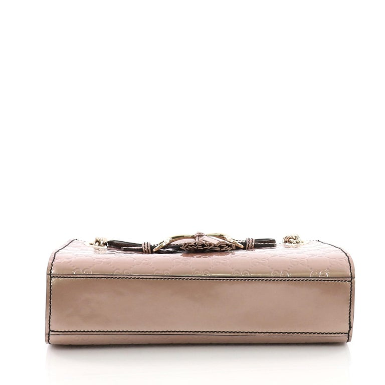183b39c7bc4 Women s or Men s Gucci Emily Chain Flap Shoulder Bag Guccissima Patent  Small For Sale