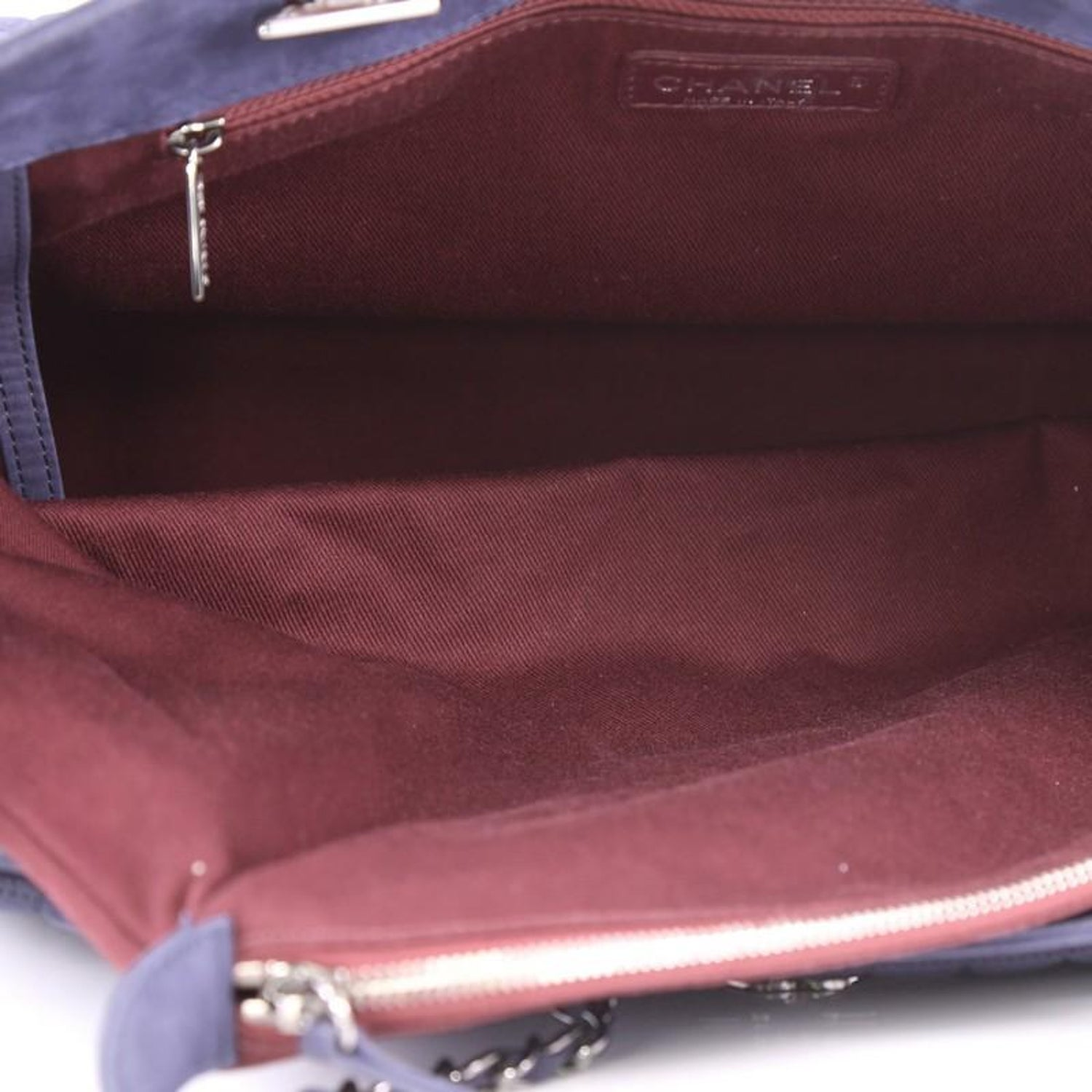 Chanel Cc Lock Bubble Tote Quilted Iridescent Calfskin Large At 1stdibs Red