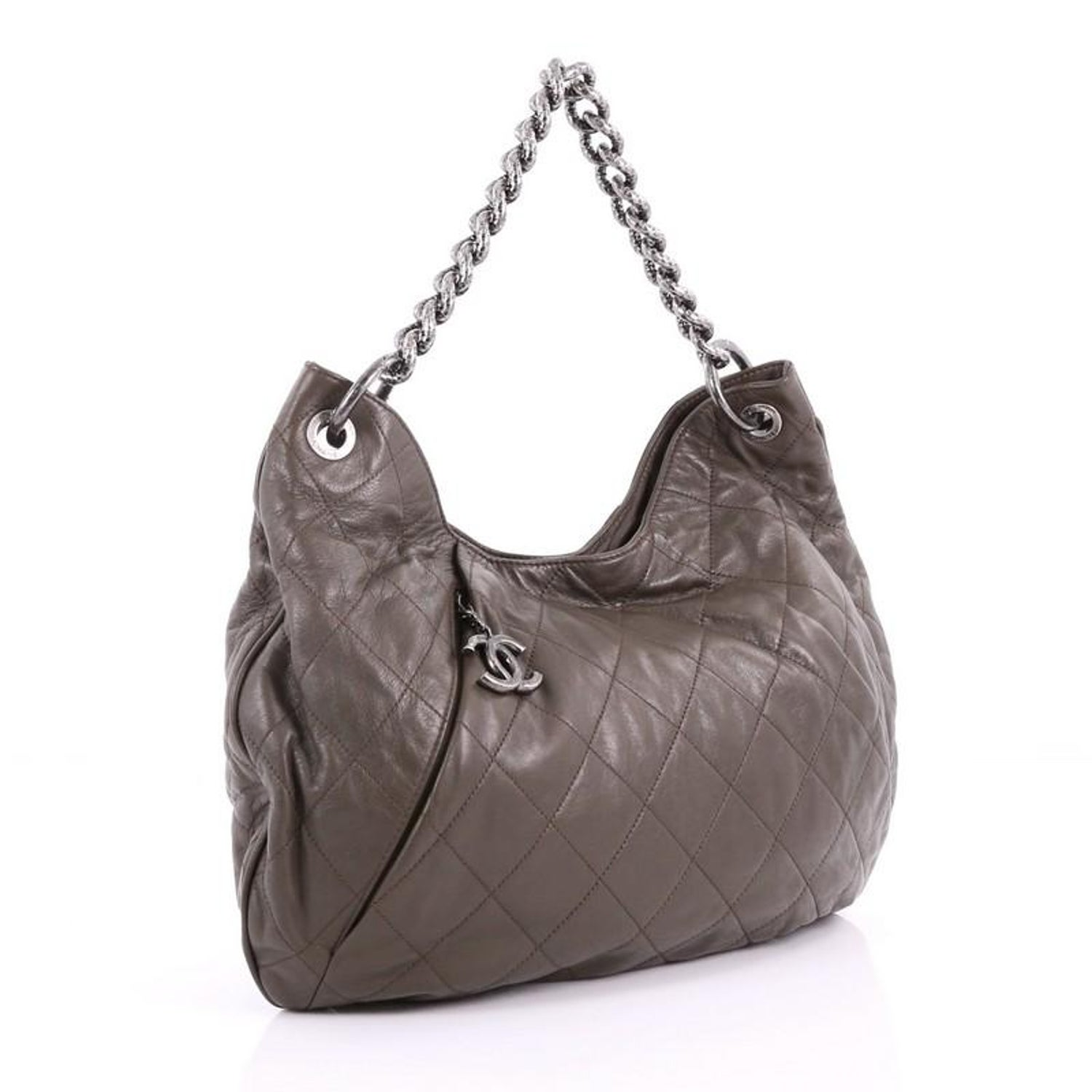 342a0dd84e03c2 Chanel Coco Pleats Hobo Quilted Calfskin Large at 1stdibs