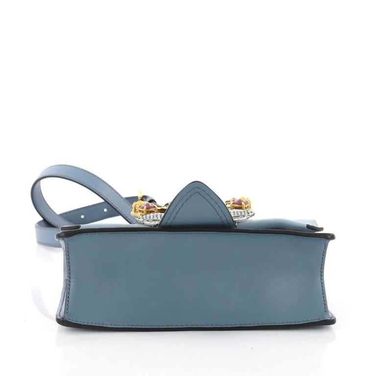 458bea04c0f Women s or Men s Miu Miu Madras Crystal Buckle Shoulder Bag Leather Small  For Sale