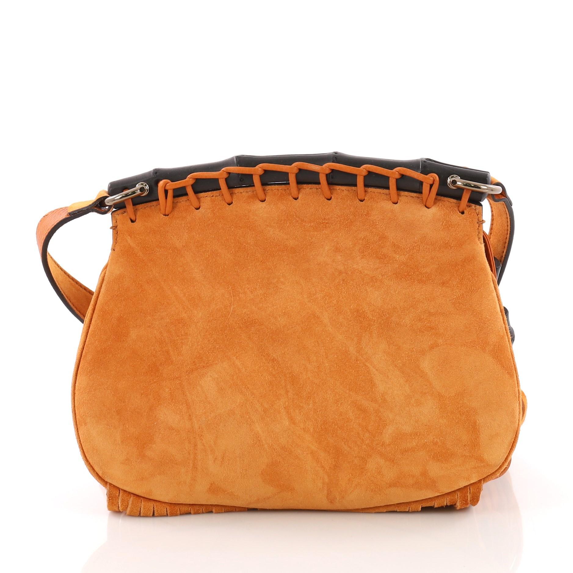c15adb2c9de Gucci Nouveau Fringe Crossbody Bag Suede Small at 1stdibs