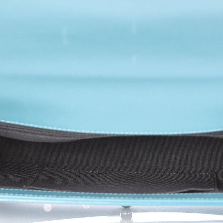 afdd07dba890 Chanel Boy Flap Bag Quilted Plexiglass Patent New Medium For Sale 1