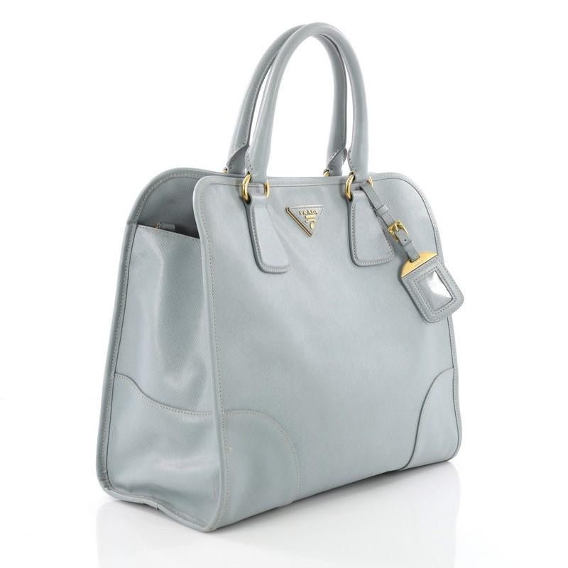 432362dfd52d ... free shipping gray prada convertible shopping tote saffiano leather  large for sale a0591 86ab1 ...