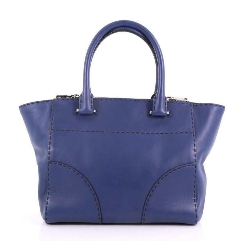 2568075bcf76 Prada Twin Pocket Tote Stitched City Calfskin Small In Good Condition For  Sale In New York