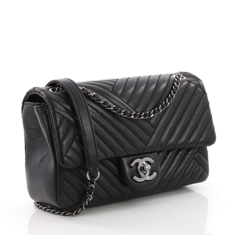 2627a8fdad2b22 Chanel CC Crossing Flap Bag Chevron Lambskin Small at 1stdibs