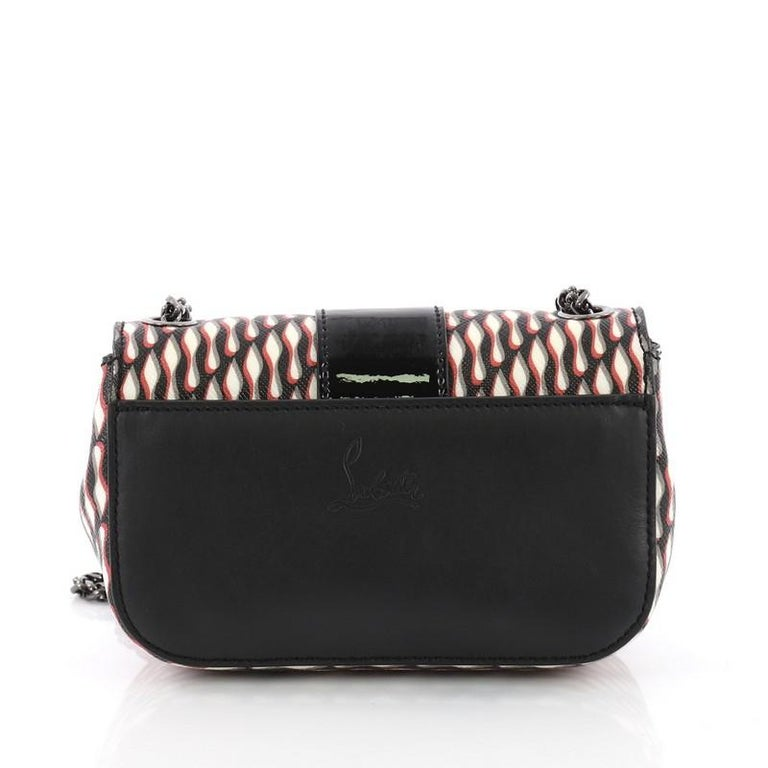 Christian Louboutin Sweet Charity Crossbody Bag Printed Leather Mini In Good Condition For Sale In New York, NY