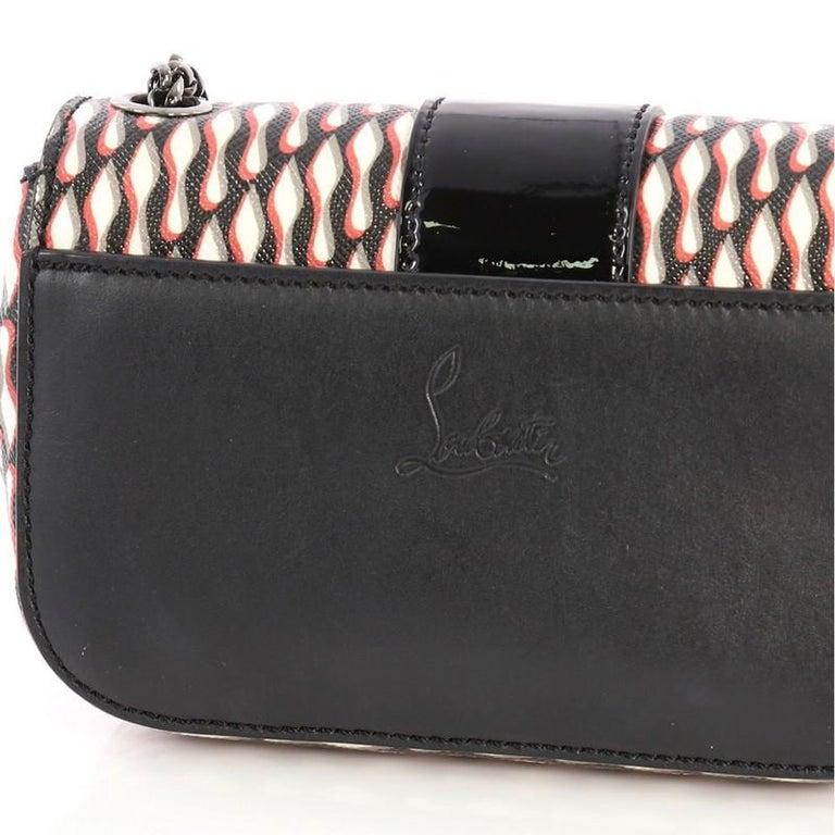 Christian Louboutin Sweet Charity Crossbody Bag Printed Leather Mini For Sale 2
