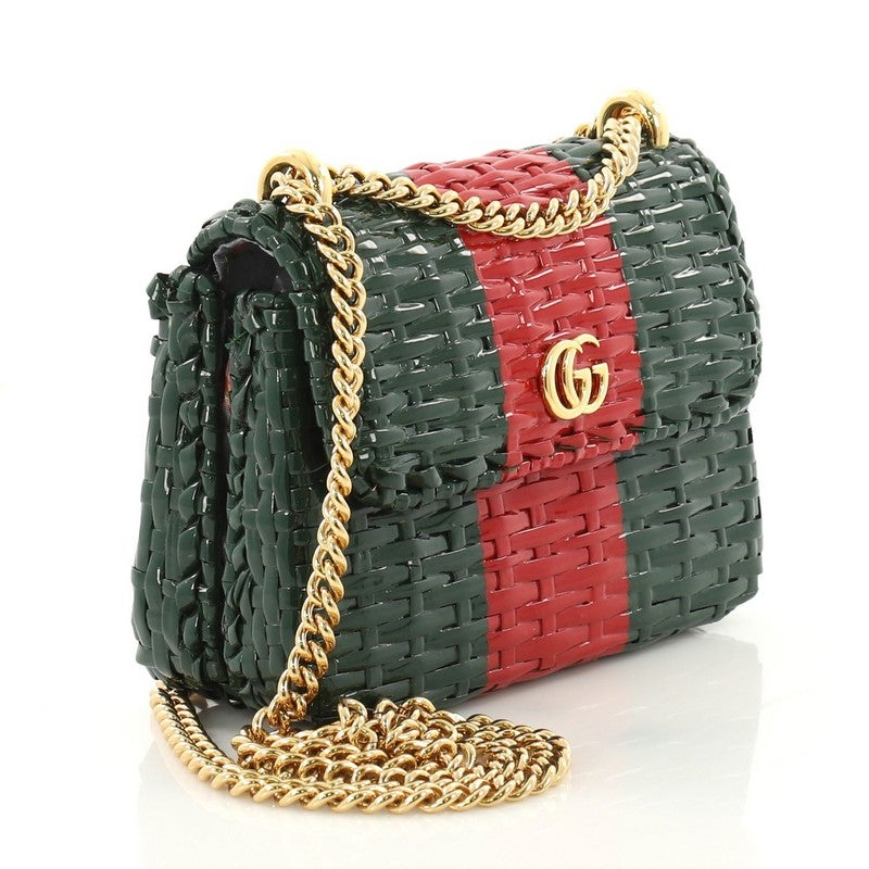 8d750f97204f68 Gucci Cestino Flap Shoulder Bag Wicker Mini at 1stdibs