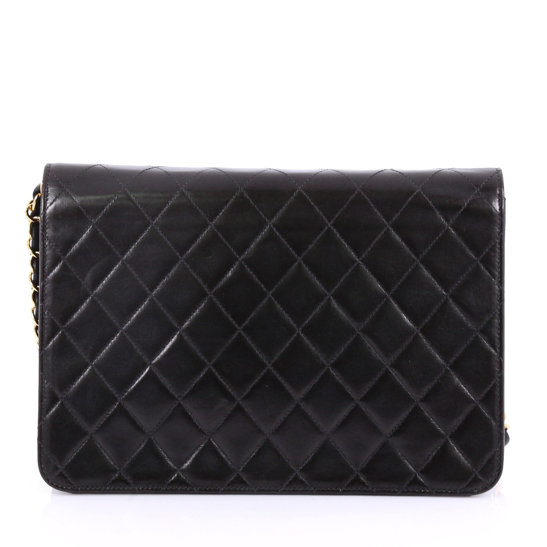 c3637638b08a Chanel Vintage Clutch with Chain Quilted Leather Medium at 1stdibs