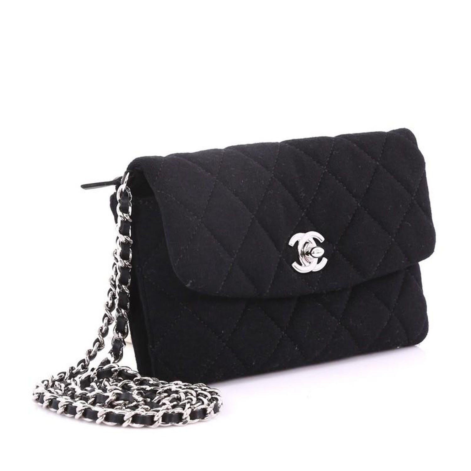 8b704fe4891f0d Chanel VIP Chain Crossbody Quilted Jersey at 1stdibs