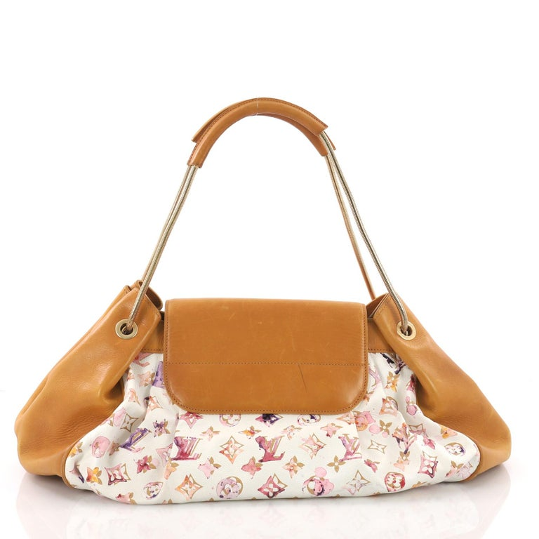 Louis Vuitton Jamais Handbag Limited Edition Aquarelle Monogram Canvas In Good Condition For Sale In New York, NY