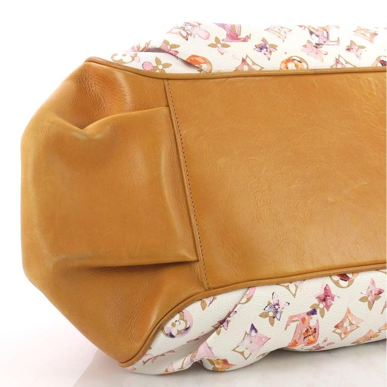 Louis Vuitton Jamais Handbag Limited Edition Aquarelle Monogram Canvas For Sale 2