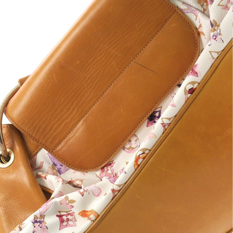 Louis Vuitton Jamais Handbag Limited Edition Aquarelle Monogram Canvas For Sale 5